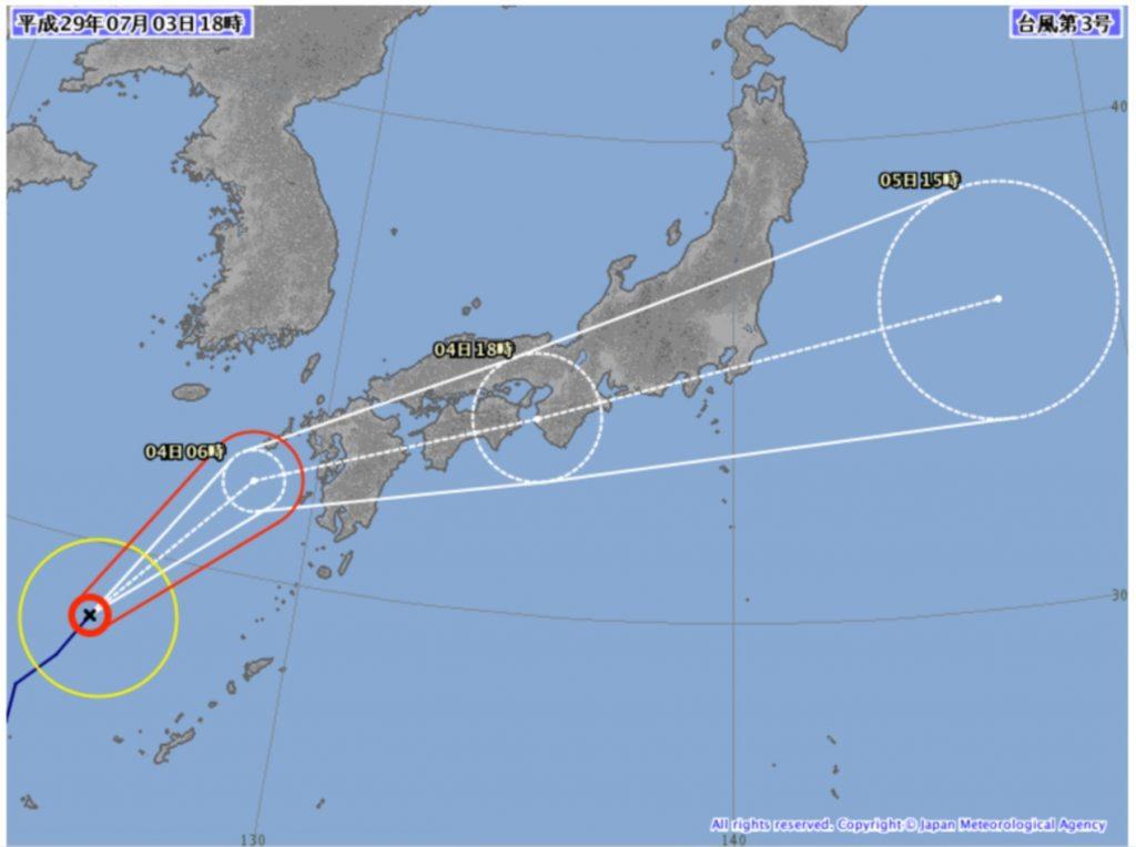台風3号直撃